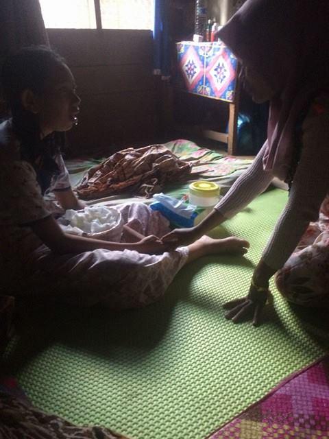 Relawan LPDA Mengunjungi dan Menyantuni Bela Desa Lhok Jok