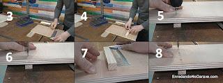 Poner el primer listón guía debajo de la mesa del taladro de columna. http://www.enredandonogaraxe.com