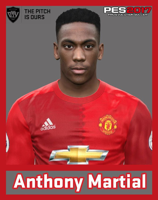 PES 2017 Anthony Martial (Manchester United) Face by Ozy_96 PESMOD