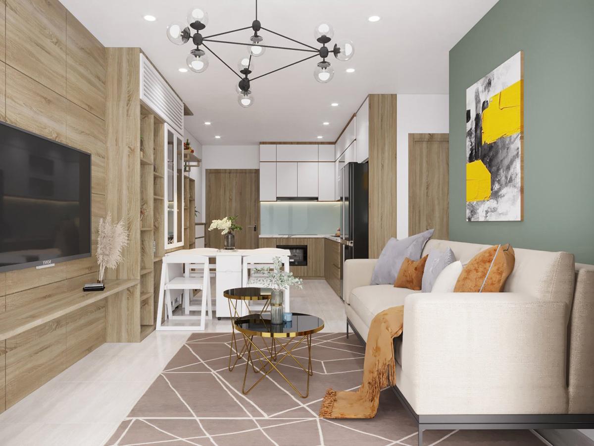 Thiết kếnội thất căn hộ 3 phòng ngủ Vinhomes Ocean Park Gia Lâm