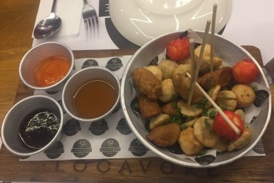 Street food platter at Locavore Three Central