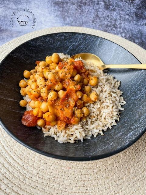 Curry pois-chiches lait de coco - Recette Cookeo  - Recette facile - Recette rapide - IG bas