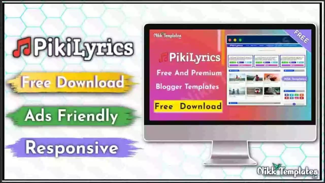 Piki Lyrics - Responsive Blogger Template - Nikk Templates