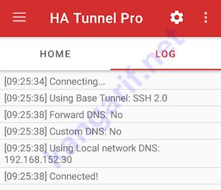 ha tunnel pro terkoneksi
