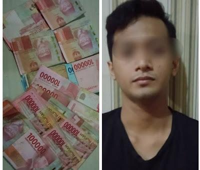 Mengaku Petugas HO Kantor Pusat, Pria ini Gasak Brangkas Minimarket Di Sindang Jaya