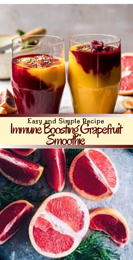 Immune Boosting Grapefruit Smoothie  #healthydrink #easyrecipe #cocktail #smoothie
