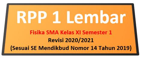 RPP Fisika 1 Lembar SMA Kelas XI Semester 1 Revisi 2020/2021