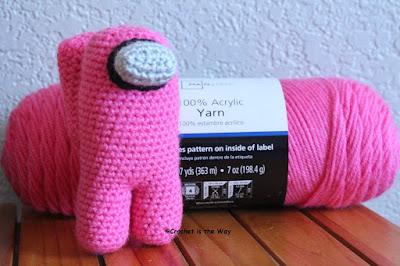 Among Us, crochet pattern, Mainstays acrylic yarn