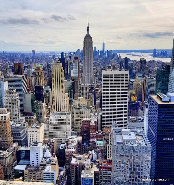 Nova York vista do Top of the Rock, no Rockefeller Center
