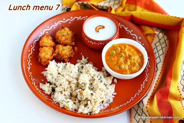 Indian lunch menu ideas