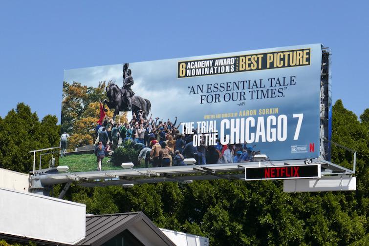 Trial of Chicago 7 Academy Award nominee billboard