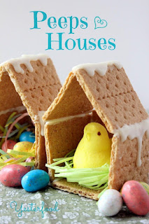 Make birdhouses for peeps this Easter.