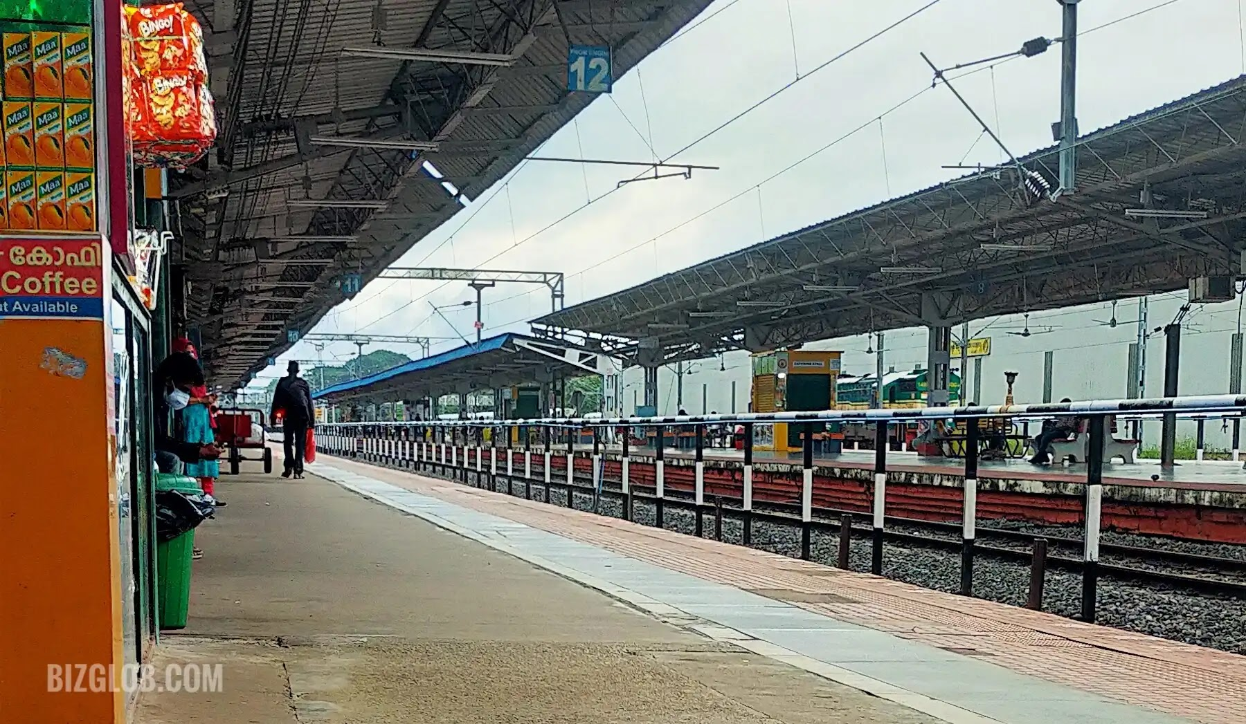 Kollam railway station platform, Indian Railway