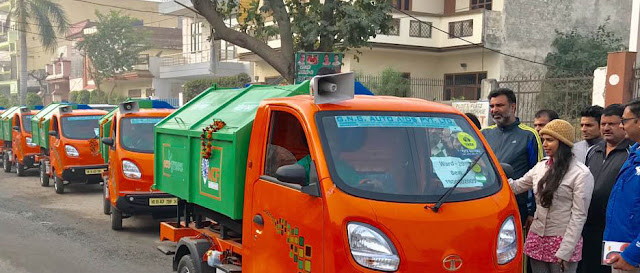 Councilor Hema Bensla leaves the eco-green car with green show