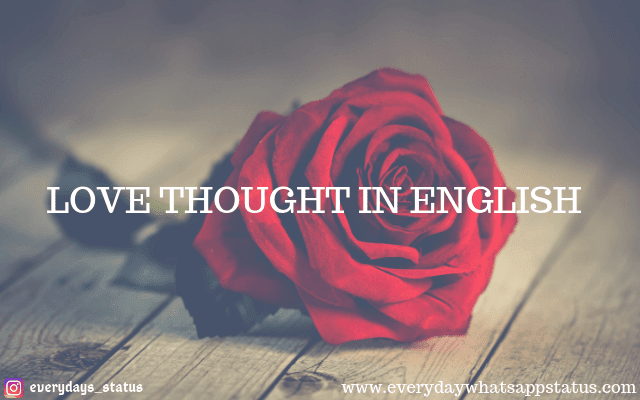 love thoughts in English | EveryDay WhatsApp Status | love thoughts in English