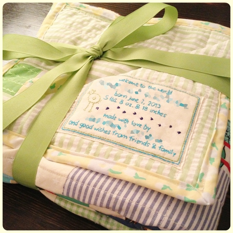 Swimming In Brine Embroidered Quilt Label Tutorial