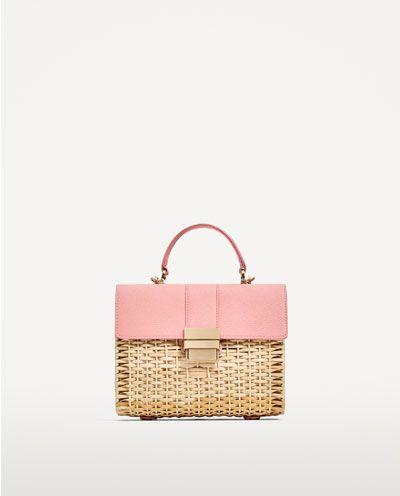 wiklinowa torebka różowa kwadratowa