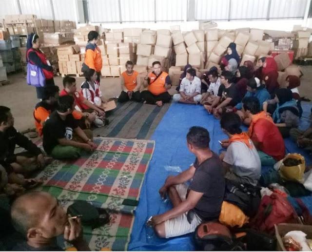 BNPB Buka Pos Lapangan Pengungsian di Gudang Logistik BNPB Kota Bekasi