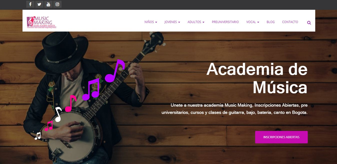 diseño web musicmaking.com.co