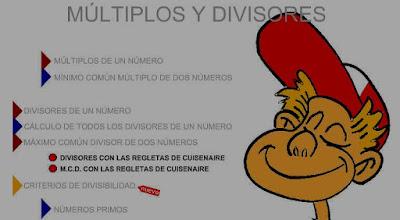 http://www3.gobiernodecanarias.org/medusa/eltanquematematico/todo_mate/multiplosydivisores/multiplosydivisores_p.html