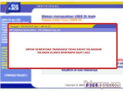 internet banking bca tidak bisa login