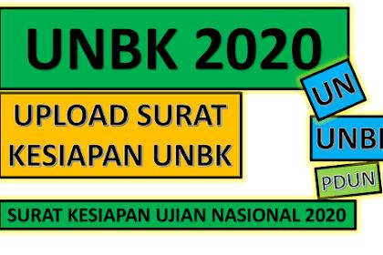 Cara Unduh Download dan Upload Surat kesiapan Melaksanakan Ujian UNBK tahun 2019 / 2020