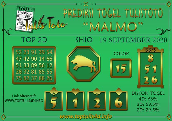 Prediksi Togel MALMO TULISTOTO 19 SEPTEMBER 2020