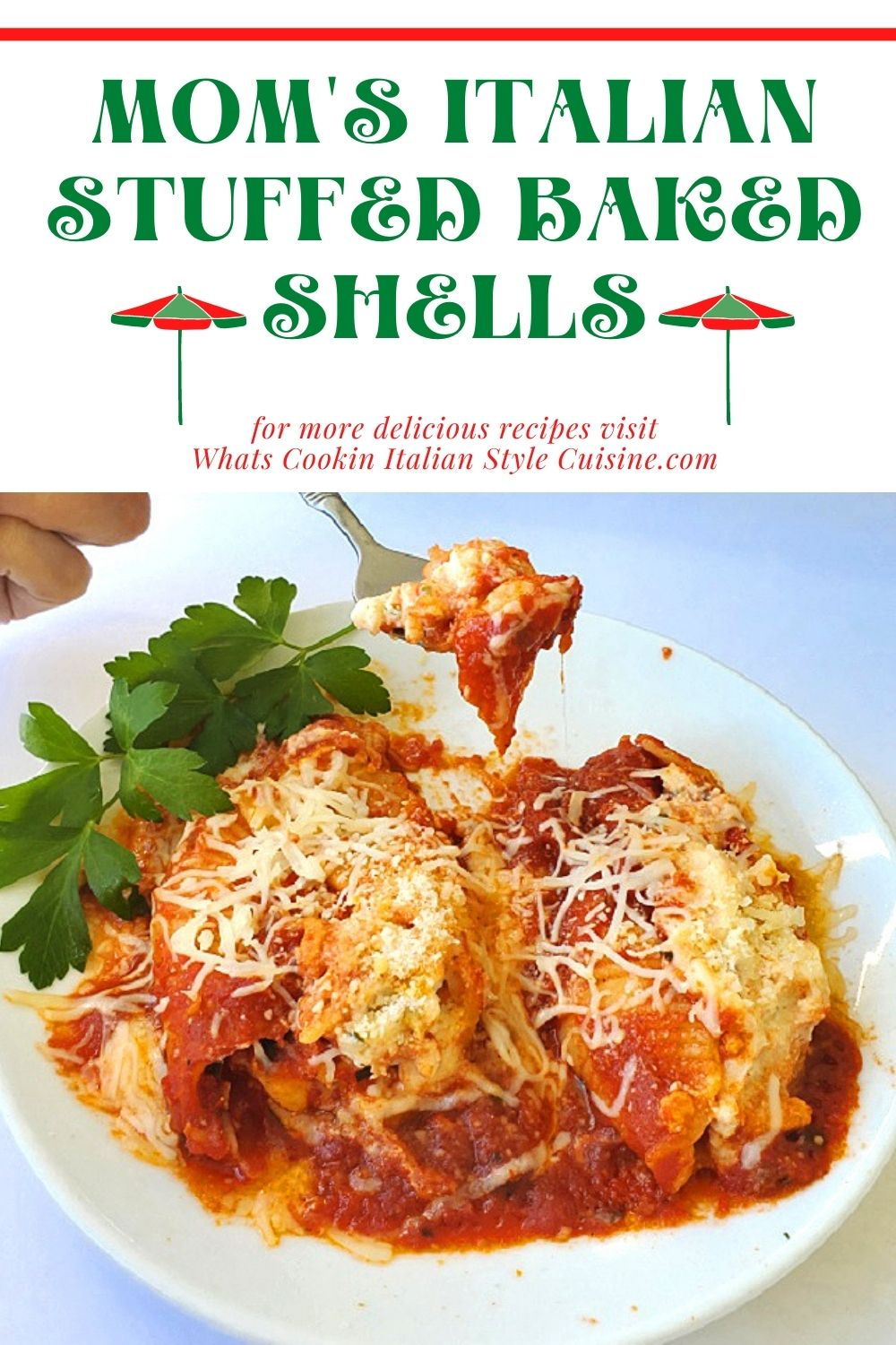 stuffed shells pin for later and how to make them