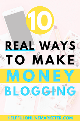 Would you like to know real and legit ways to make money blogging? In my blog post I show you 10 ways to make money blogging besides ads. Start earning passive income today. #makemoneyonline #beginnerblogger