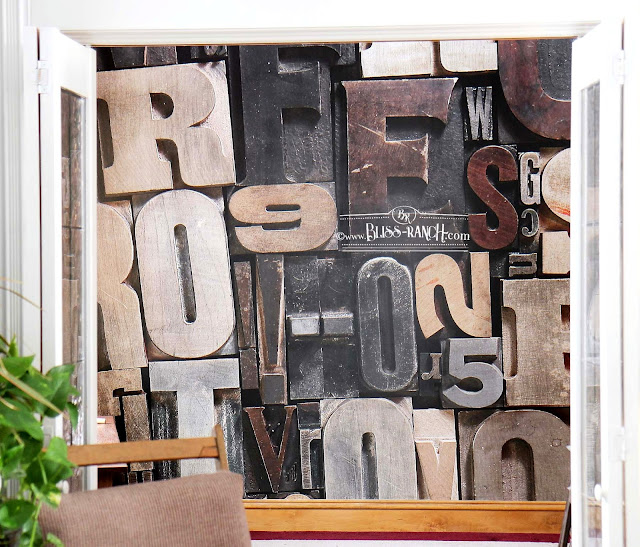 PhotoWall Office Mural Vintage Letters Bliss-Ranch.com
