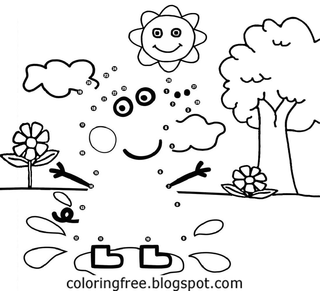 basic cartoon tree background peppa pig printable dot to dot coloring book pages for kids to