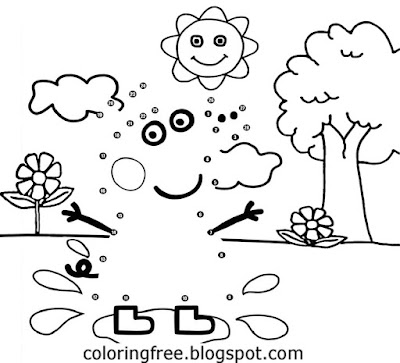 Basic cartoon tree background Peppa pig printable dot to dot coloring book pages for kids to draw