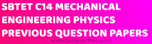 engineering physics c-14 mechanical previous question papers pdf