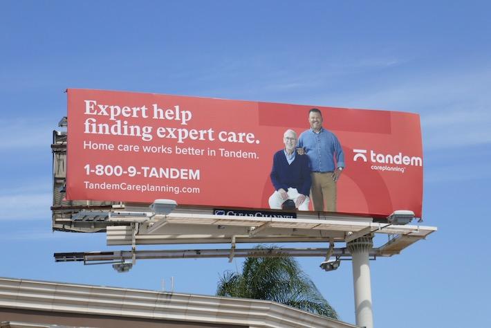 Tandem Care planning billboard