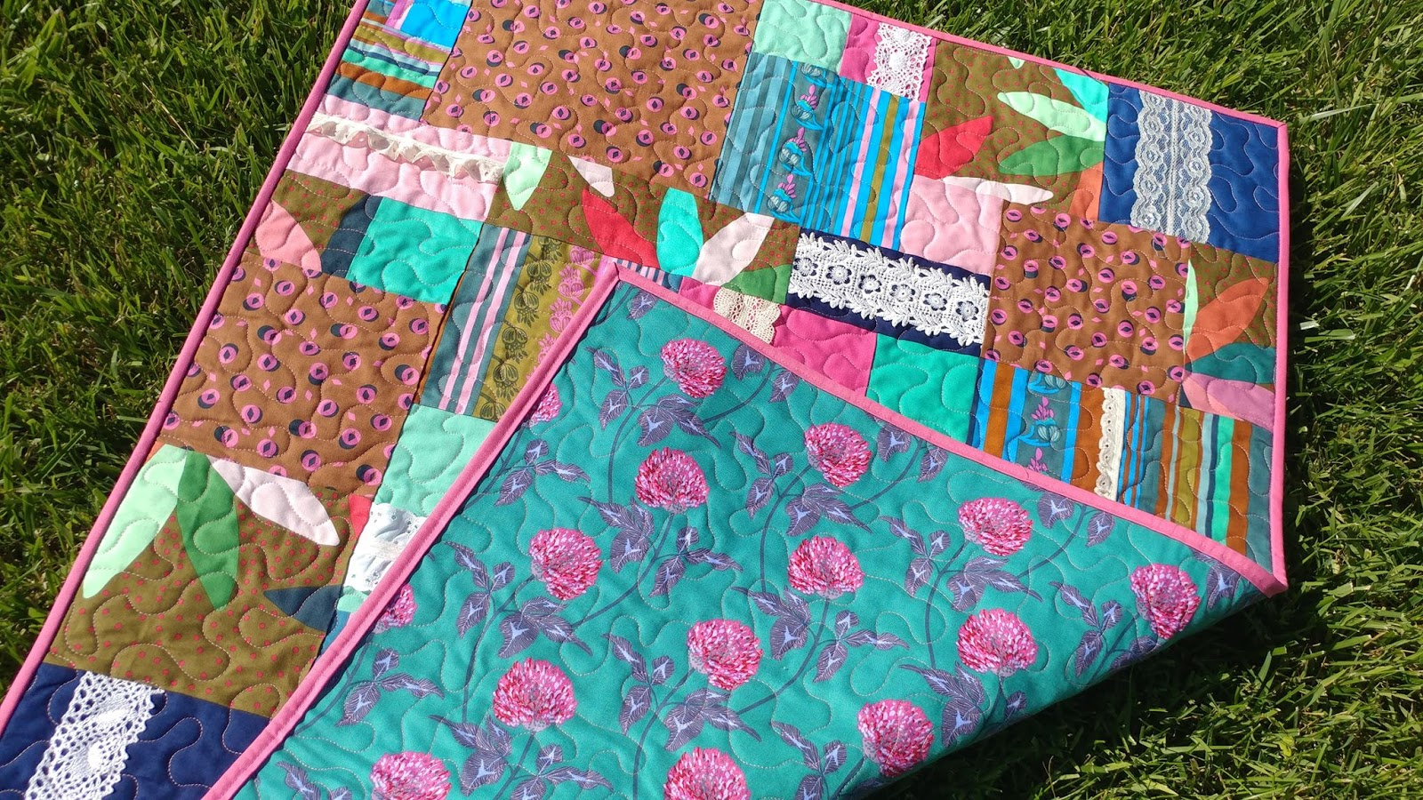 Baby Quilts.com Slice Of Pi Quilts Boho Chic Baby Quilt