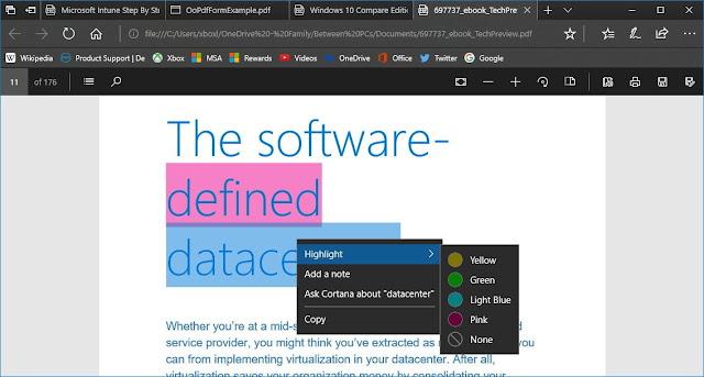 كيفية استخدام ميكروسوفت إيدج كقارئ بدف في ويندوز 10 تحديث الخريف للمبدعين