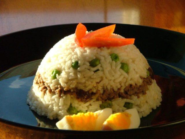 Receta del arroz tapado peruano