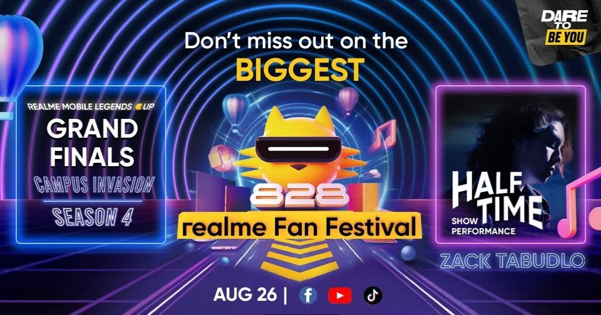 realme Fan Fest continues with RMC Grand Finals; Zack Tabudlo to headline half-time entertainment