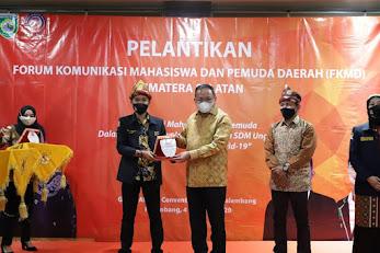 Dodi Reza Terima Penghargaan dari Mahasiswa-Pemuda Sumsel sebagai Kepala Daerah Inovatif