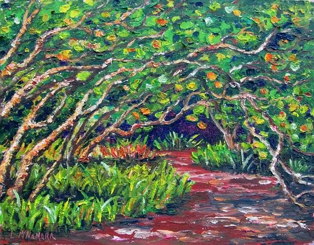 Heathcote Botanical Gardens: Lori's Stormy Art And Daily Paintings: Daily Painting 1268