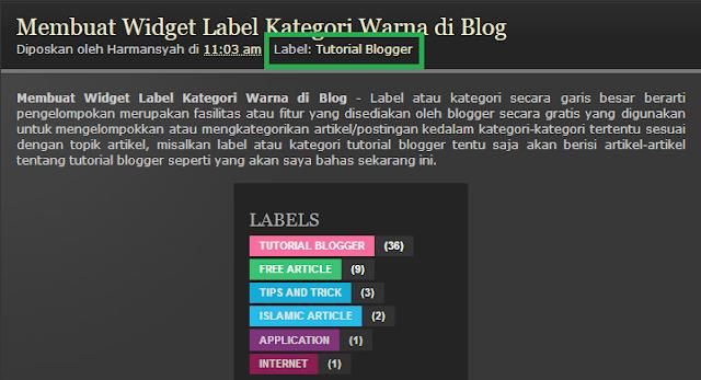 Cara Menampilkan Label atau Kategori di Blog