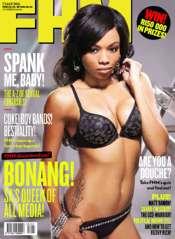 Cover Queen Bonang Matheba Burns up FHM's June 2011 Issue 1 SA Study University, FET and Bursary Information South Africa