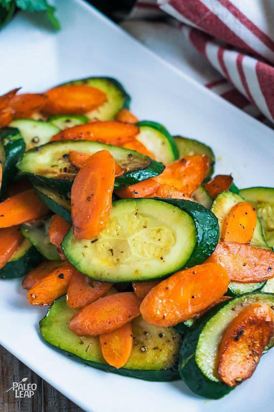 SAUTEED CARROTS AND ZUCCHINI #sauteed #carrots #zucchini #veggies #vegetable #vegetarianrecipes #veganrecipes