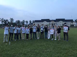 Para Millenial dari 3 Kandidat Cagub/Cawagub Diundang bob builder di Depan Kantor Gubernur Provinsi Jambi