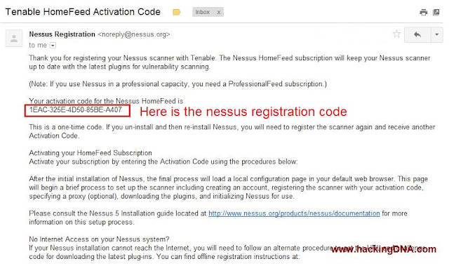COPY THE ACTIVATION CODE