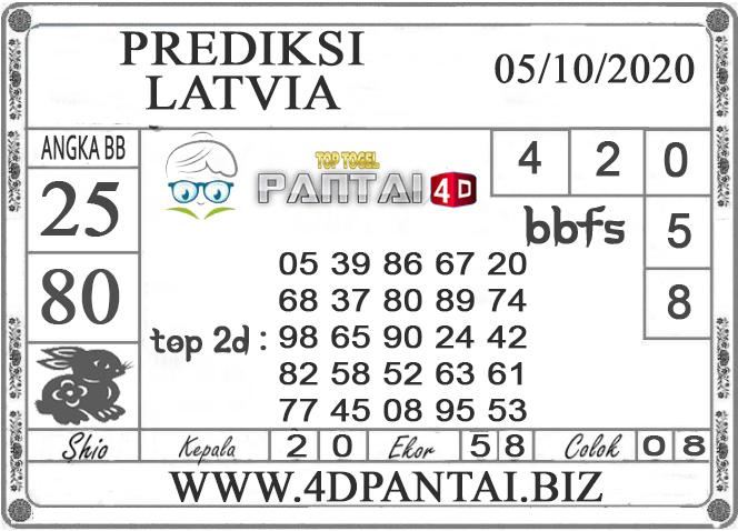 PREDIKSI TOGEL LATVIA PANTAI4D 05 OKTOBER 2020
