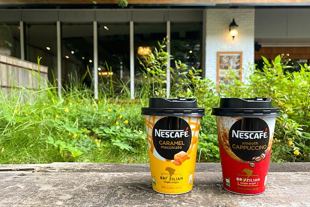 雀巢杯裝咖啡由內而外完整封存韓系浪漫 杯身以首爾街頭時尚咖啡館為概念,色系活潑鮮明,拿著都潮!