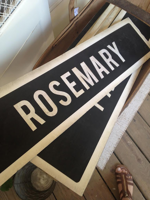Rosemary foam board sign