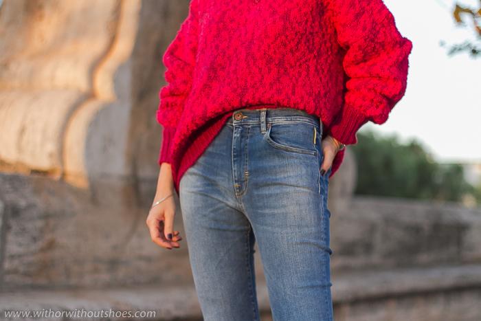 Pantalones vaqueros Jeans acampanados flared cortos tobilleros modelo Noemi Meltin' Pot