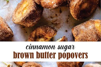 cinnamon sugar brown butter popovers